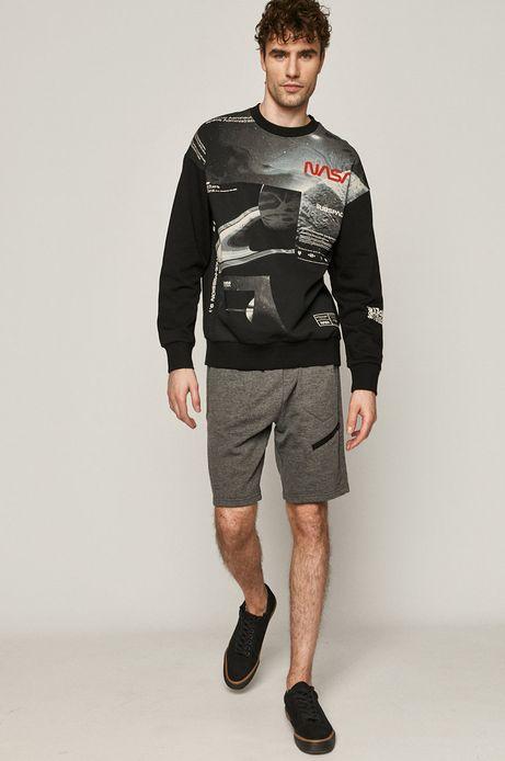 Bawełniana bluza męska z nadrukiem NASA czarna