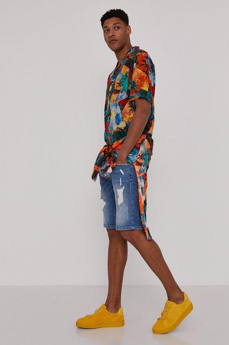 Bluza męska z wzorzystej dzianiny