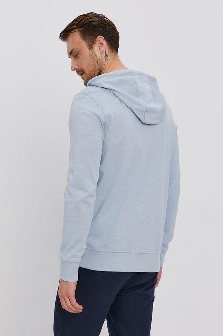 Bawełniana bluza męska z kapturem niebieska