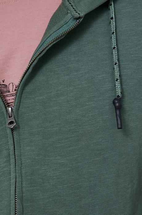 Bawełniana bluza męska z kapturem zielona