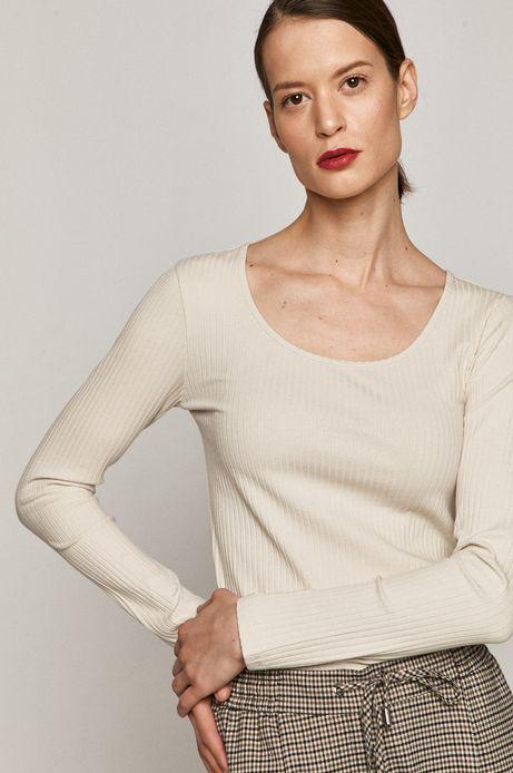 Longsleeve damski z bawełną organiczną beżowy
