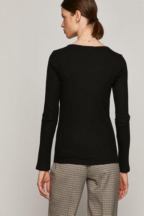 Longsleeve damski z bawełną organiczną czarny
