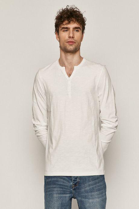 Longsleeve męski bawełniany biały