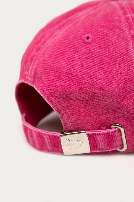 Czapka damska z daszkiem z efektem sprania różowa