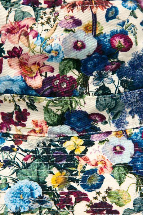 Bawełniany kapelusz damski w kwiatowy wzór