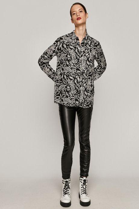 Koszula damska w tygrysy czarna