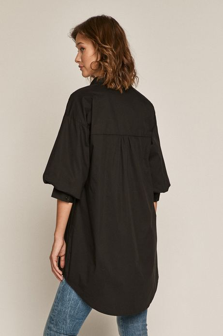 Gładka koszula damska oversize czarna