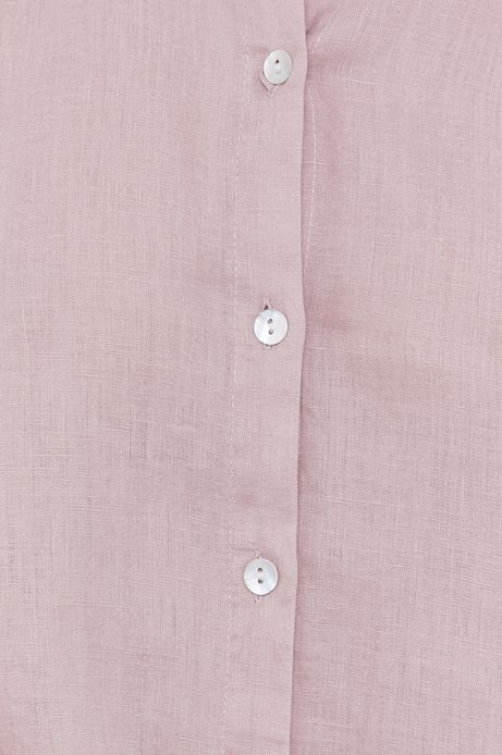 Koszula damska lniana różowa
