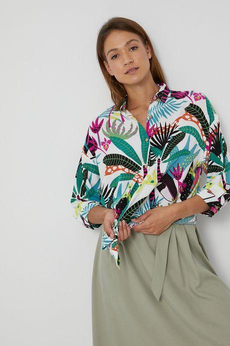 Wzorzysta koszula damska z wiskozy