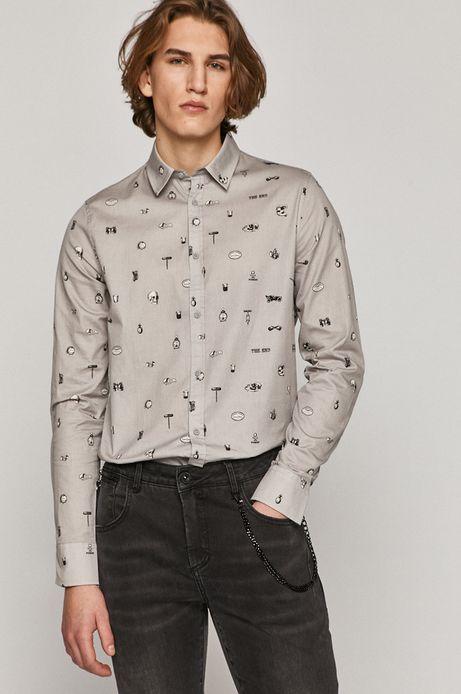 Koszula bawełniana męska szara