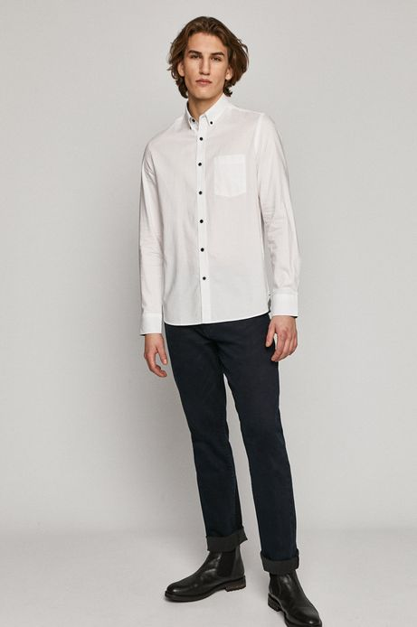 Koszula męska bawełniana biała