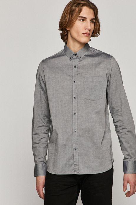 Koszula męska bawełniana szara