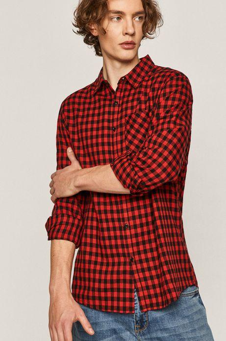 Koszula męska w kratkę czerwona