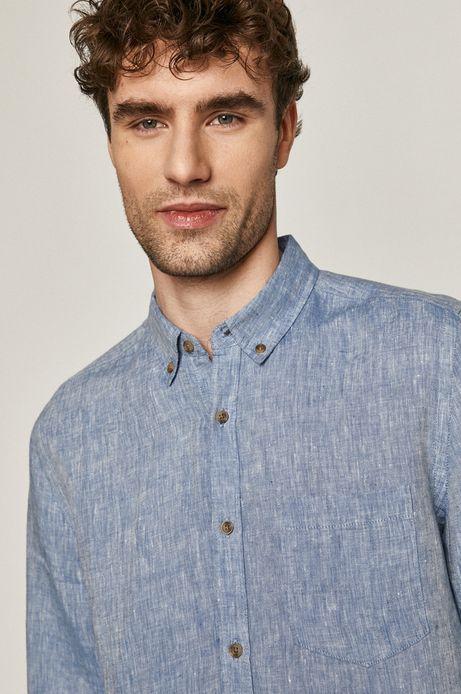 Koszula męska lniana niebieska