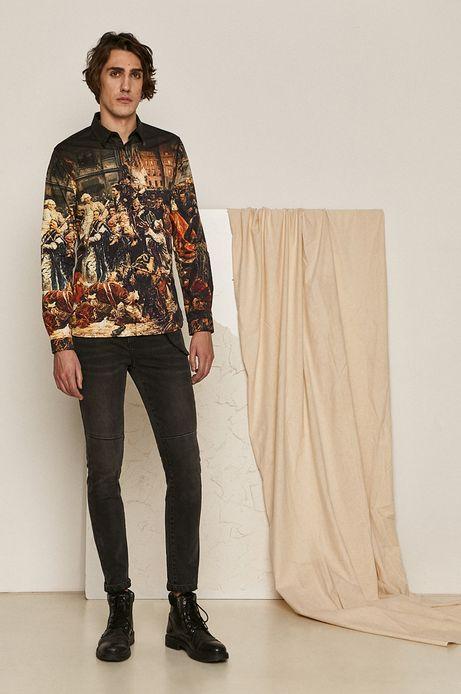 Koszula męska z kolekcji EVIVA L'ARTE czarna
