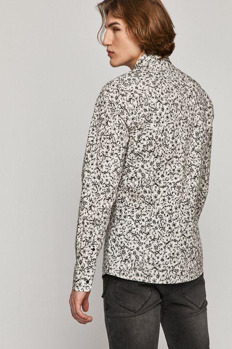 Koszula męska wzorzysta biała