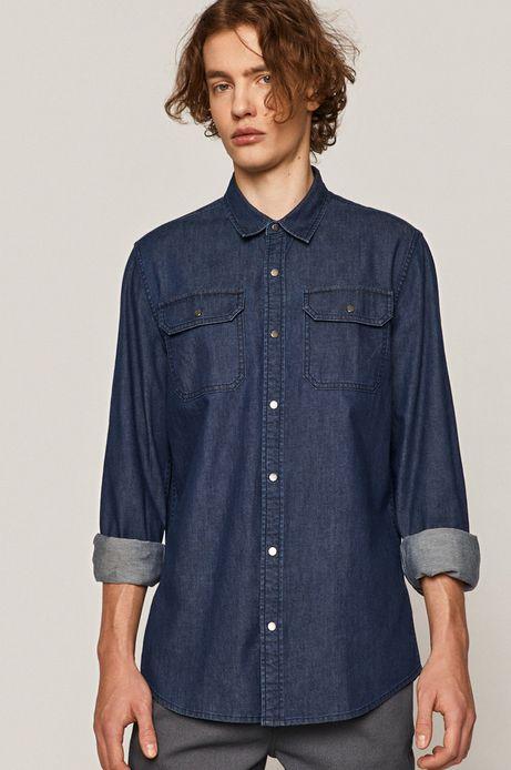 Koszula męska jeansowa granatowa