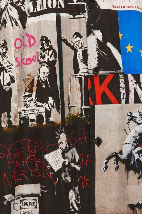 Bawełniana koszula męska Banksy's Graffiti