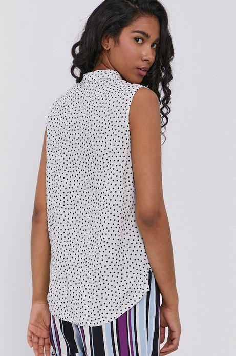 Koszula damska w grochy z wiskozy biała