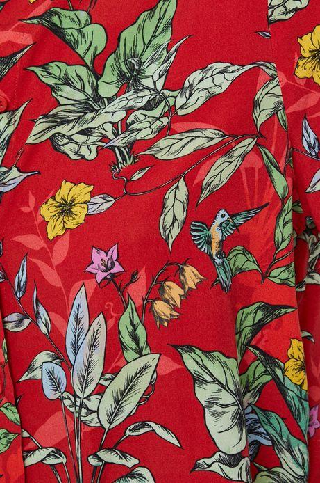 Koszula damska z wiskozy czerwona