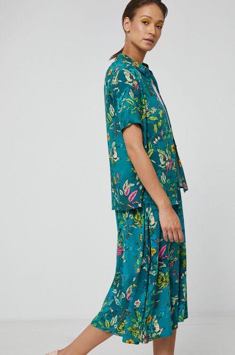 Koszula damska z wiskozy zielona