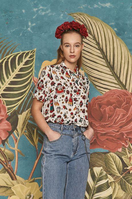 Koszula damska Frida Kahlo biała