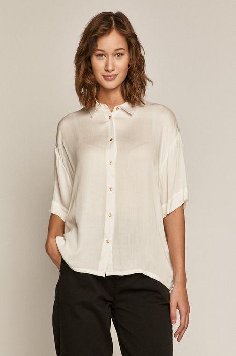 Koszula damska z lejącego materiału biała