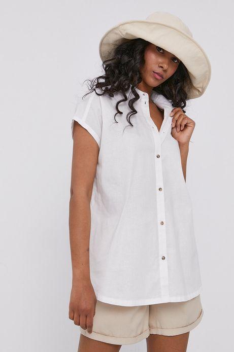 Koszula damska lniana biała