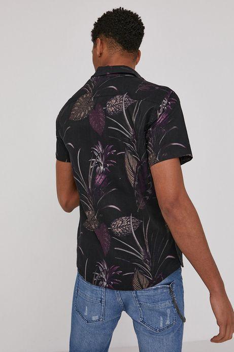 Koszula męska lniana czarna