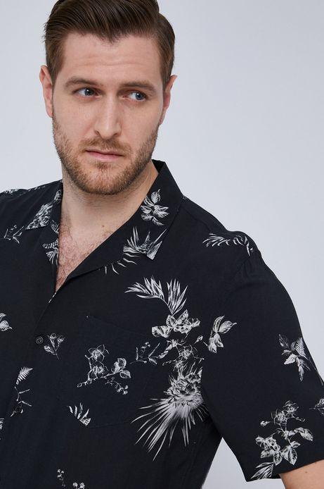 Koszula męska z krótkim rękawem czarna