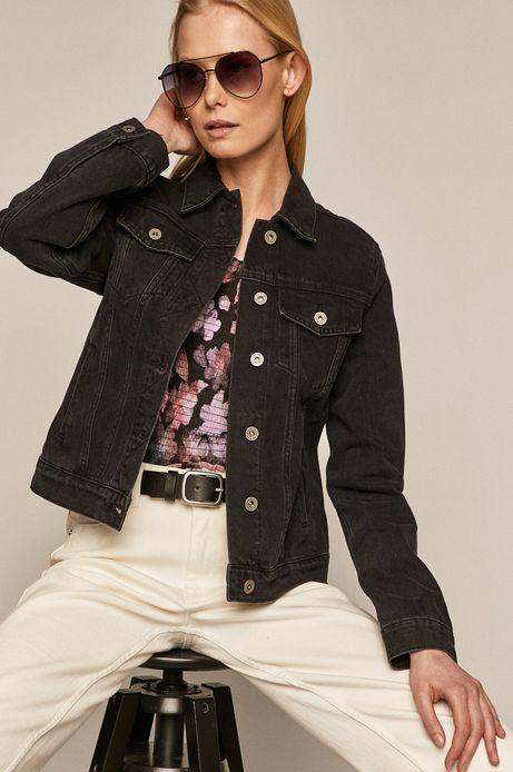 Kurtka jeansowa damska czarna