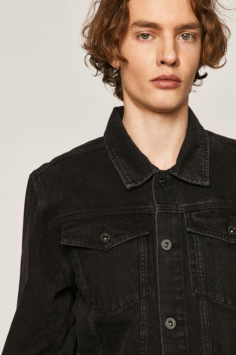 Kurtka jeansowa męska czarna