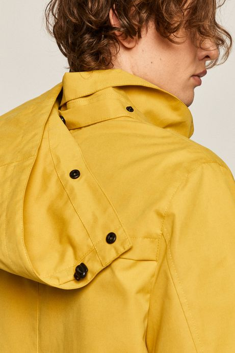 Kurtka męska przeciwdeszczowa żółta