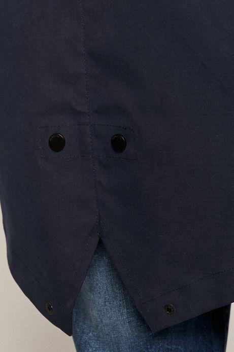 Kurtka męska przeciwdeszczowa granatowa