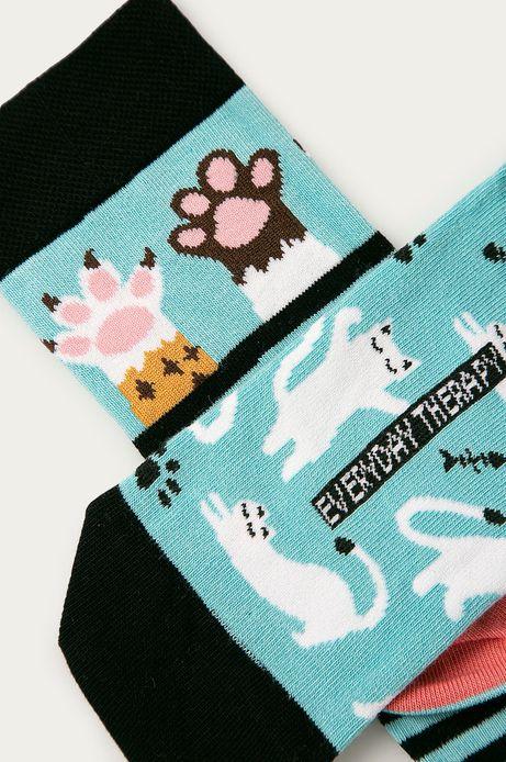Skarpetki damskie w koty (2-pack)