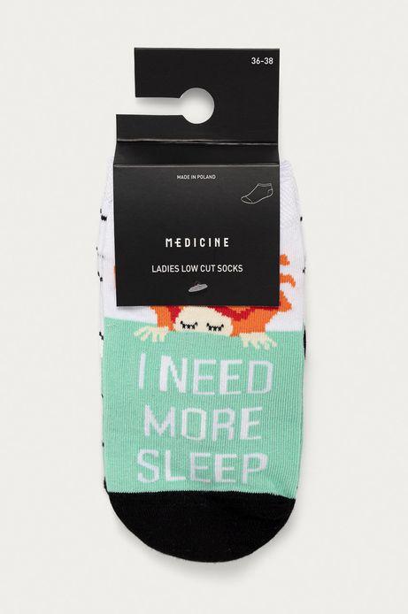 Skarpetki damskie z napisem I need more sleep (2-pack)