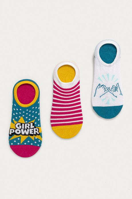 Stopki damskie girl power (3-pack)
