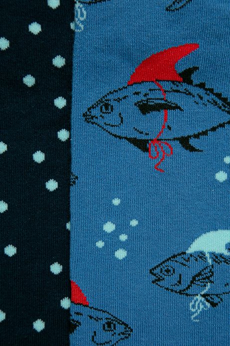 Skarpetki męskie w ryby (2-pack)