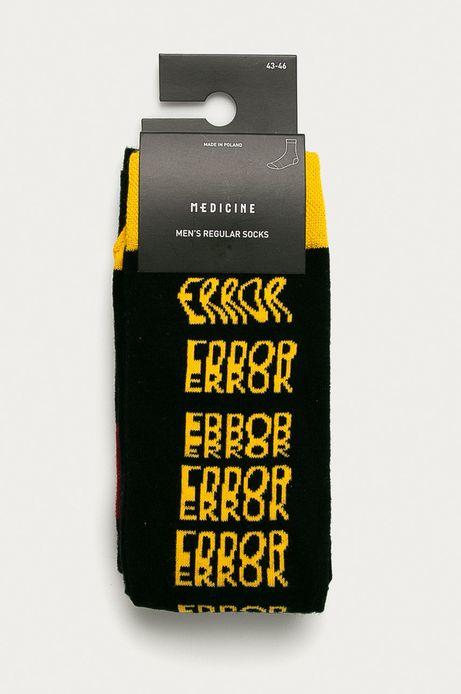 Skarpetki męskie z napisem ERROR (2-PACK)