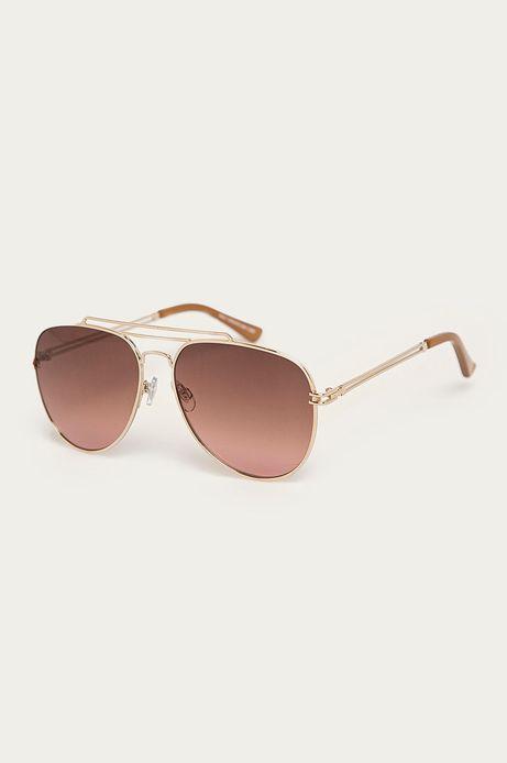 Okulary przeciwsłoneczne damskie aviator brązowe