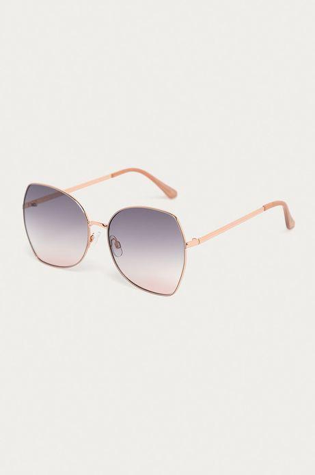 Okulary przeciwsłoneczne damskie w metalowej oprawie