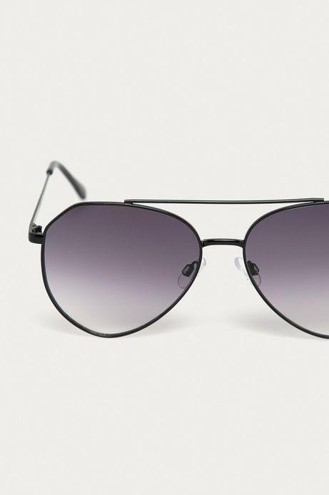 Okulary przeciwsłoneczne damskie aviator czarne