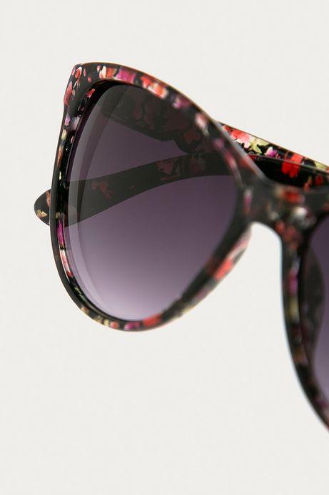 Okulary przeciwsłoneczne damskie  we wzorzystej oprawie
