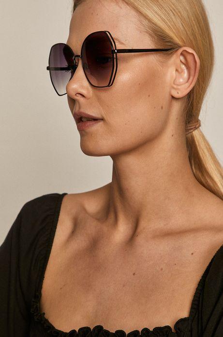 Okulary przeciwsłoneczne damskie w metalowej oprawie czarne