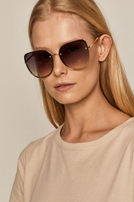Okulary przeciwsłoneczne damskie typu kocie oczy czarne
