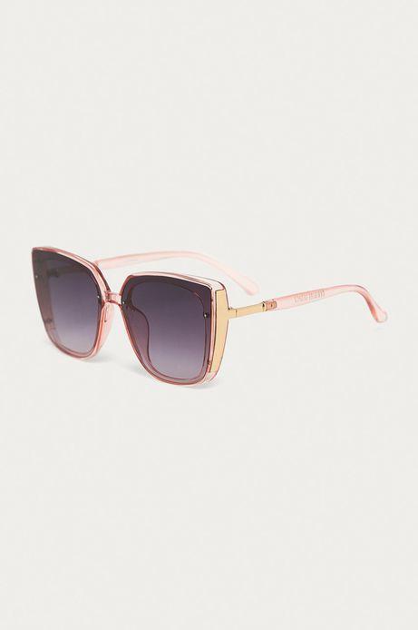 Okulary przeciwsłoneczne damskie typu kocie oczy różowe