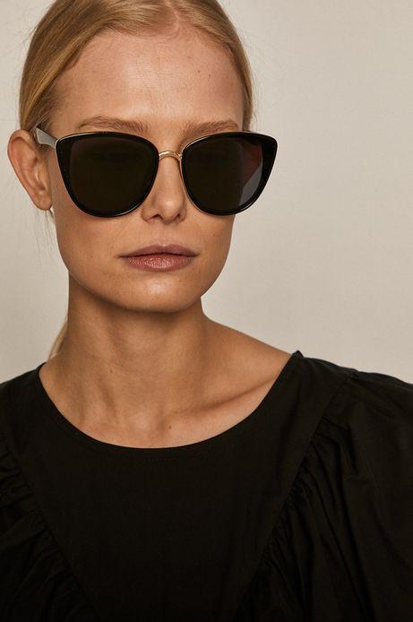 Okulary przeciwsłoneczne damskie typu kocie oczy z polaryzacją czarne