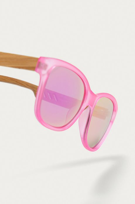 Okulary przeciwsłoneczne damskie z drewnianymi zausznikami z funkcją flexible