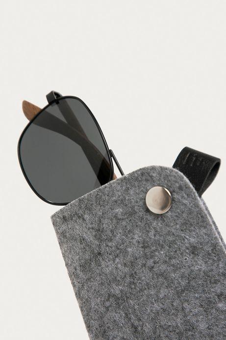 Okulary przeciwsłoneczne męskie z zausznikami z funkcją flexible czarne