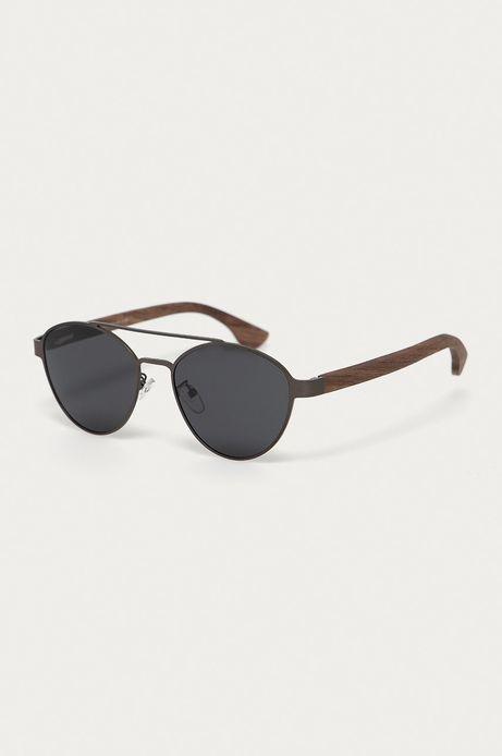 Okulary przeciwsłoneczne męskie z polaryzacją oraz flexi zausznikami czarne